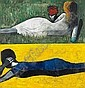 c - CHARLES BLACKMAN , Australian B. 1928 DOUBLE IMAGE IV Oil on canvas, Charles Blackman, Click for value