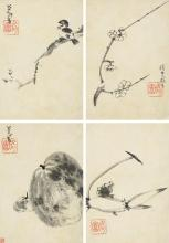 ZHU DA (BADA SHANREN) 1626-1705 | FLOWERS, BIRDS, FISH AND FRUIT