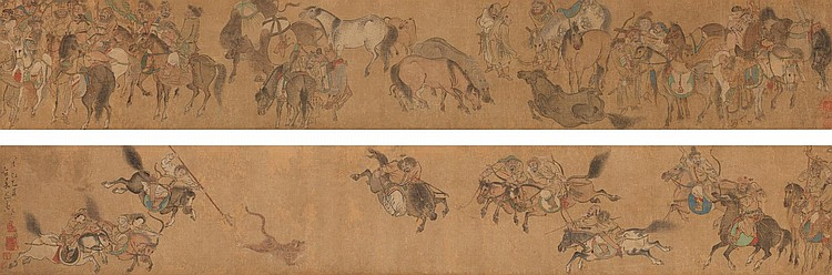 ZHANG LONGZHANG (ACTIVE LATE 16TH-EARLY17TH CENTURY) | HUNTING SCENE