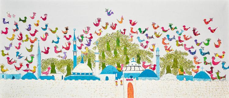 JUMANA EL HUSSEINI | Untitled (Birds of Jerusalem)