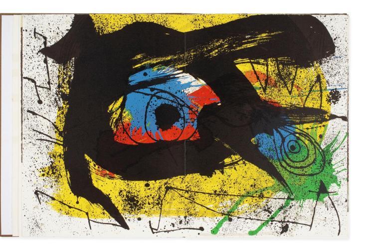 JOAN MIRÓ | Derriere le Miroir. Miró. Sobreteixims: Three Prints(Cramer Books 167)