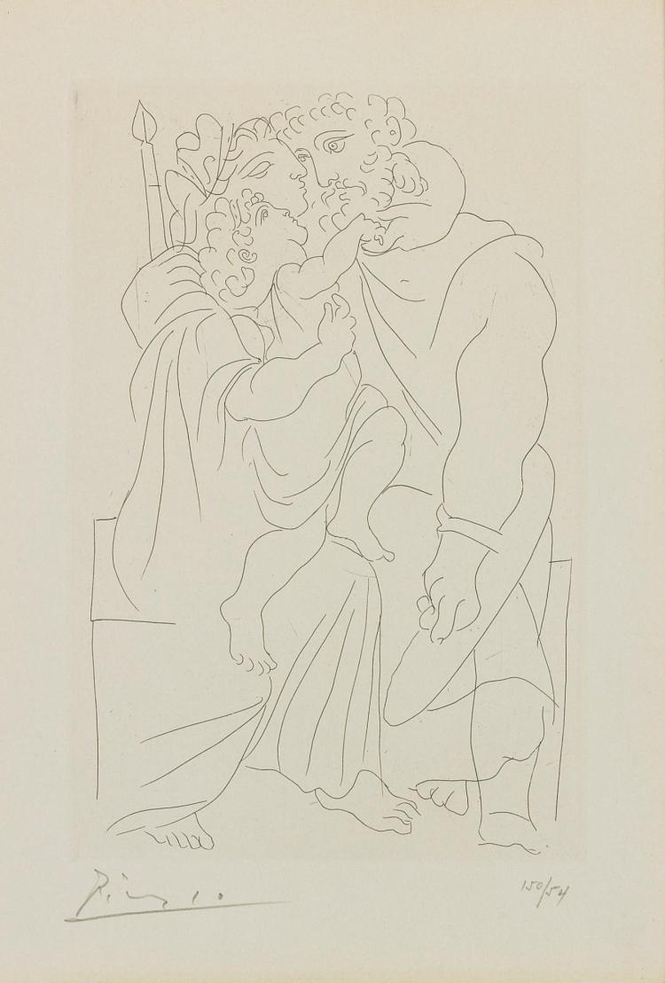 PABLO PICASSO   Couple et enfant (Bloch 268, Baer 388)