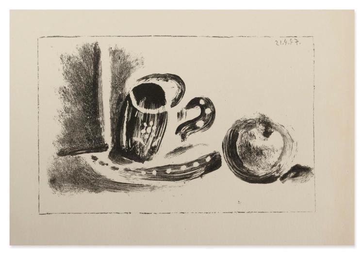 PABLO PICASSO | La tasse et la pomme (Mourlot 91)