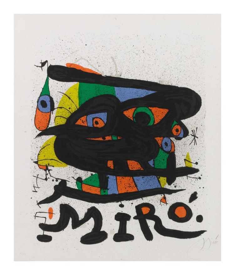 JOAN MIRÓ | Poster for the Exhibition 'Miró Sculptures', Walker Art Center (Mourlot 755)