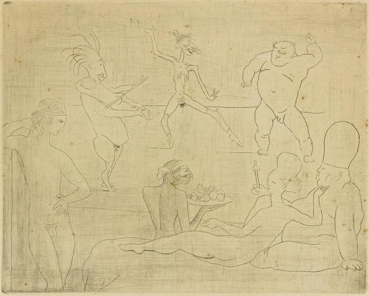 PABLO PICASSO | La Danse barbare (Devant Salomé et Hérode) (Bloch 15; Baer 18)