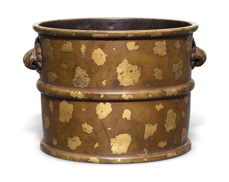 A GILT-SPLASHED BRONZE CENSER QING DYNASTY, 18TH CENTURY |