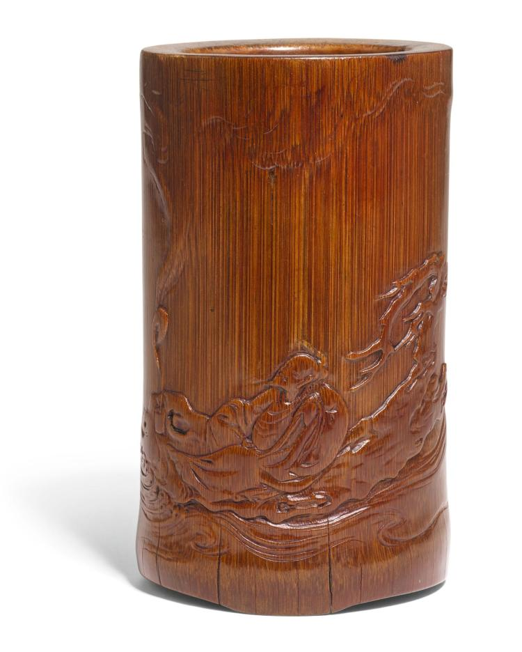 A BAMBOO BRUSHPOT QING DYNASTY, 19TH CENTURY |