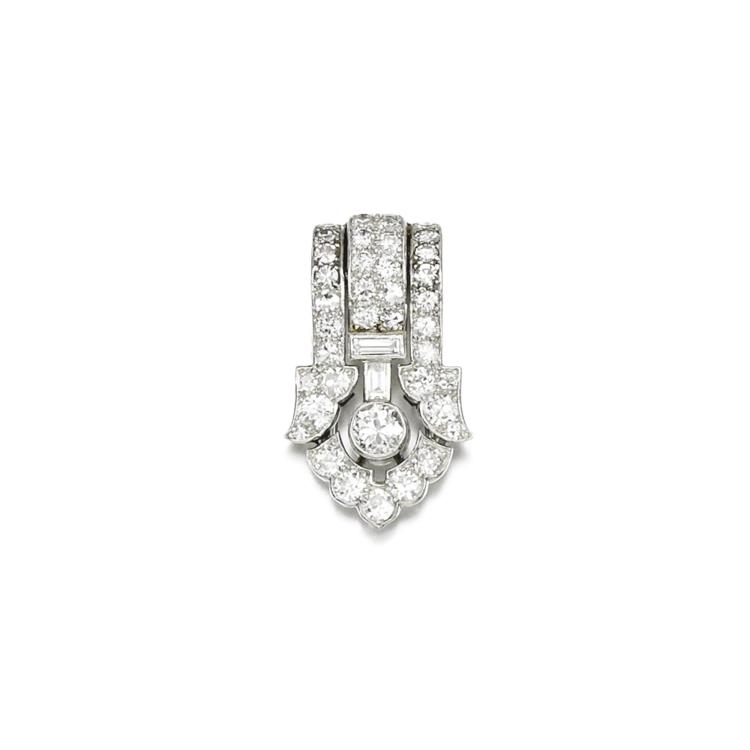 DIAMOND CLIP BROOCH, CARTIER, 1930S
