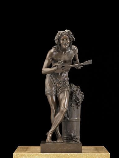 LE JOUEUR À LA MANDOLINE FRANCE, SECONDE MOITIÉ DU XIXE SIÈCLE FRANCISQUE-JOSEPH DURET 1804-1865