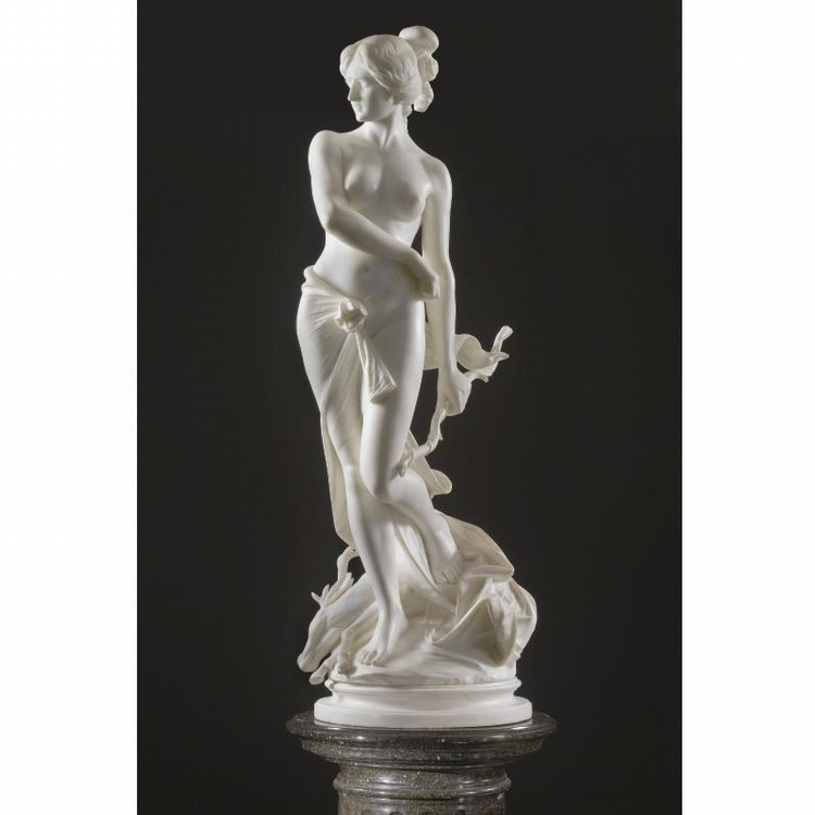 PROFESSORE F. SAUL LATE 19/ EARLY 20TH CENTURY DIANA, VIRGIN GODDESS OF THE HUNT