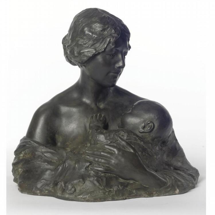 BERTHE GIRARDET (B. 1869) MOTHER AND CHILD