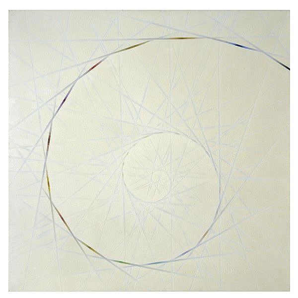 f - Francisco Infante , b.1943 design for a spiral 2 oil on canvas