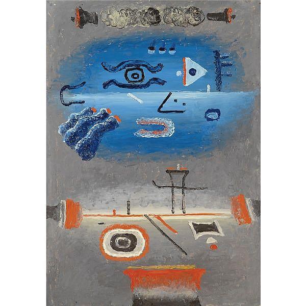 m - Vladimir Yankilevsky , b.1938 untitled oil on board