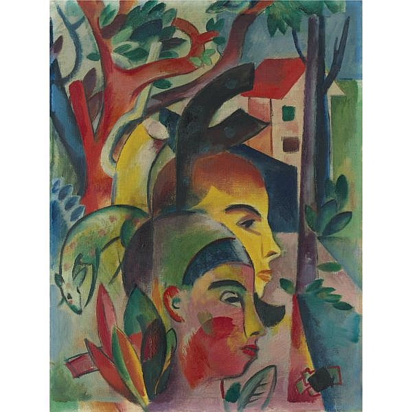 Heinrich Campendonk , 1889-1957 Zwei Köpfe (Two Heads) Oil on canvas