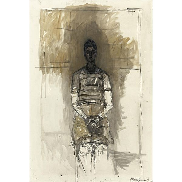 - Alberto Giacometti , 1901-1966 Portrait de Caroline Oil on canvas