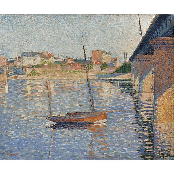 Paul Signac , 1863-1935 Clipper (Opus 155) Oil on canvas
