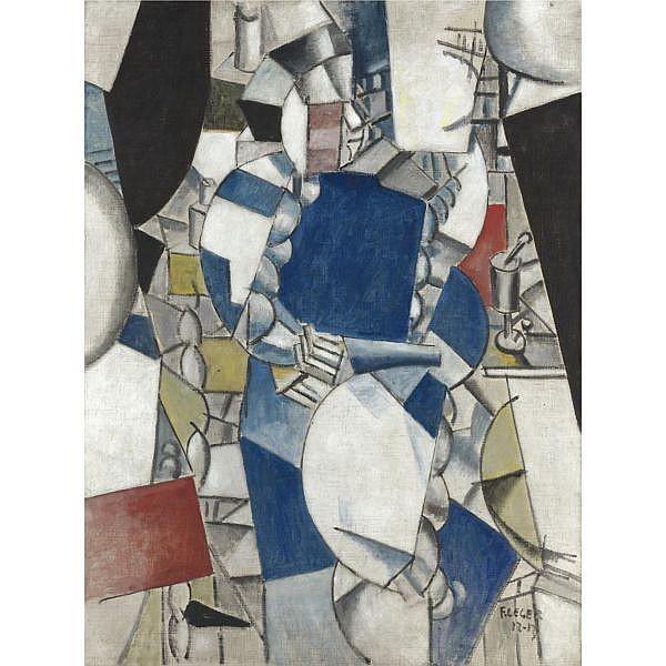 - Fernand Léger , 1881-1955   ÉTUDE POUR 'LA FEMME EN BLEU'   Oil on canvas