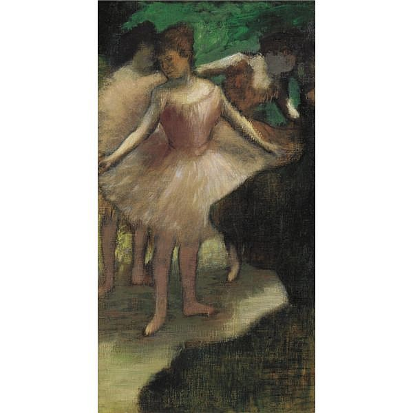 Edgar Degas , 1834-1917 Trois danseuses en rose Oil on canvas