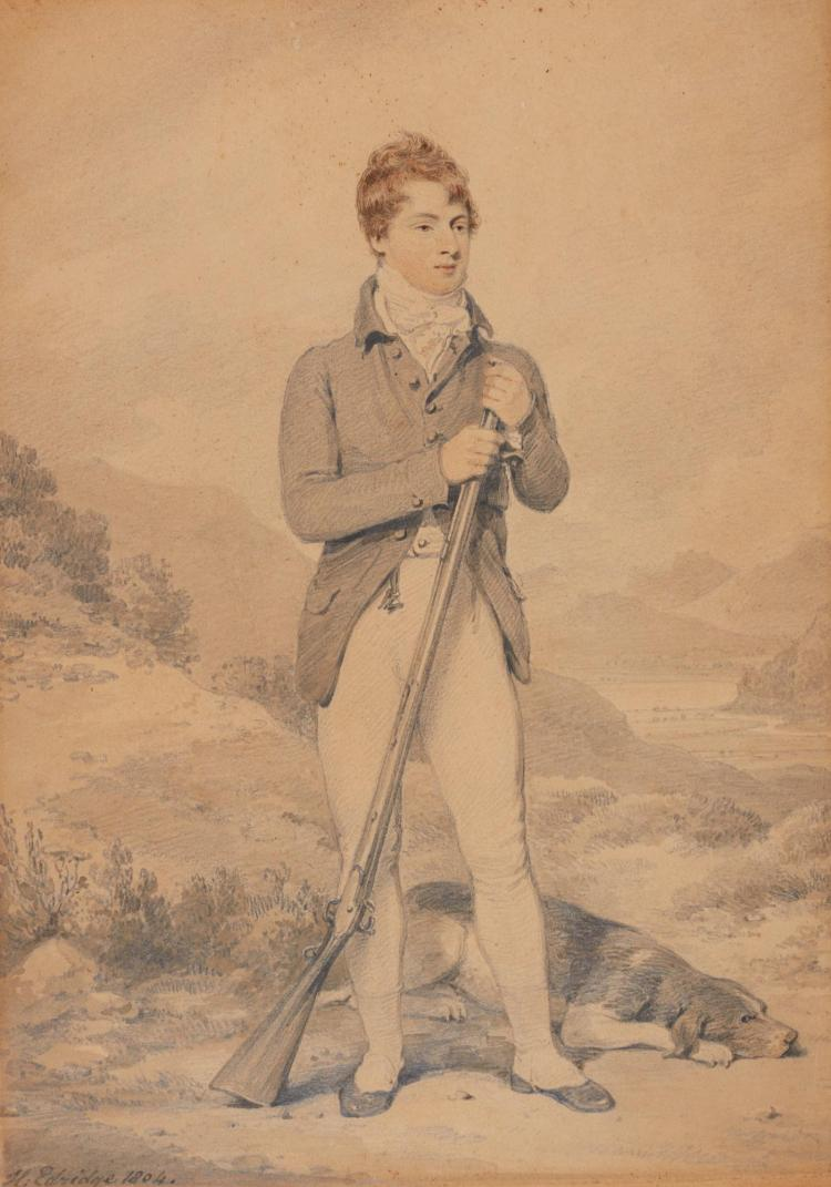 HENRY EDRIDGE, A.R.A. | Portrait of William, Viscount Lowther, later 2<sup>nd</sup> Earl of Lonsdale (1787-1872)