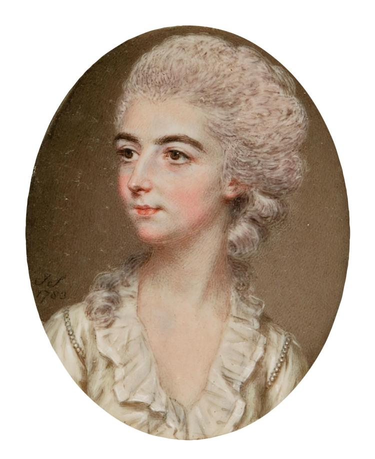 JOHN SMART | Portrait of Miss Frances Gore of Tring Park, later Mrs Francis Willock (1759-1806)