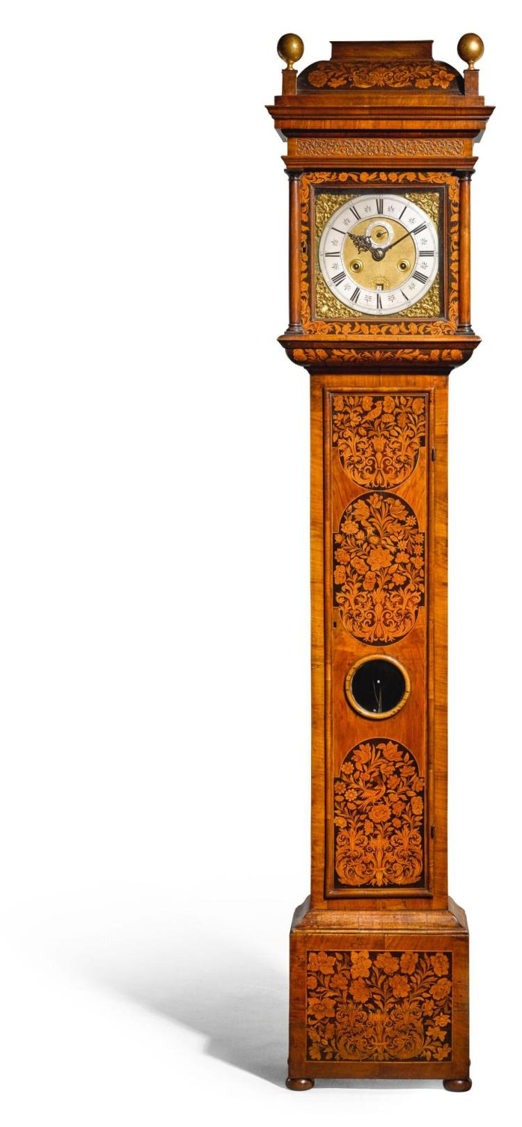 A WILLIAM III WALNUT MARQUETRY MONTH-GOING LONGCASE CLOCK, JOHN BARNETT, LONDON, CIRCA 1695 |