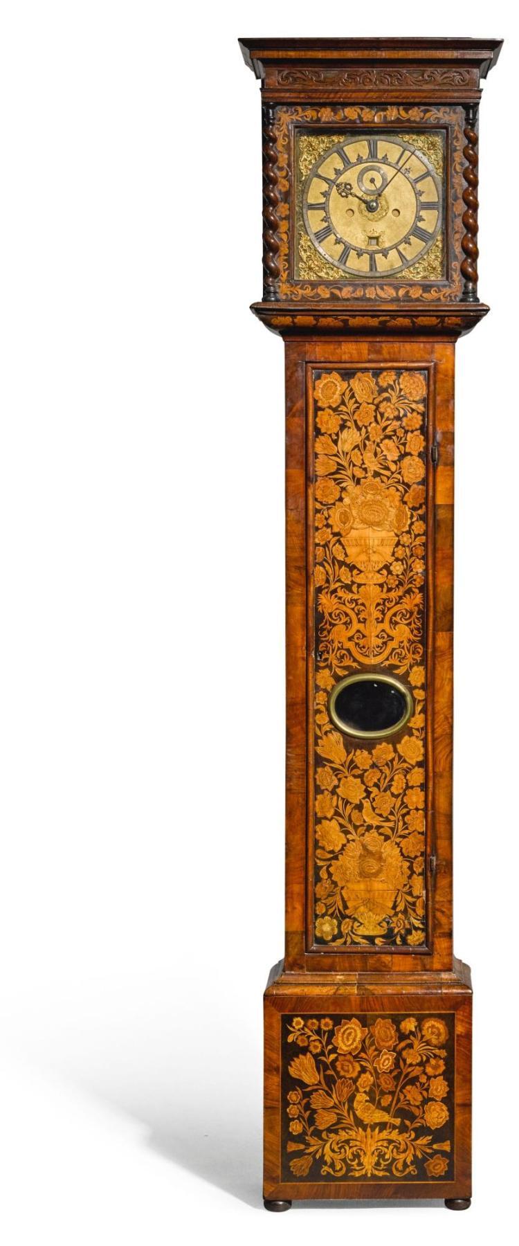 A WALNUT MARQUETRY LONGCASE CLOCK, JOHN NORCOTT, LONDON, CIRCA 1685 |
