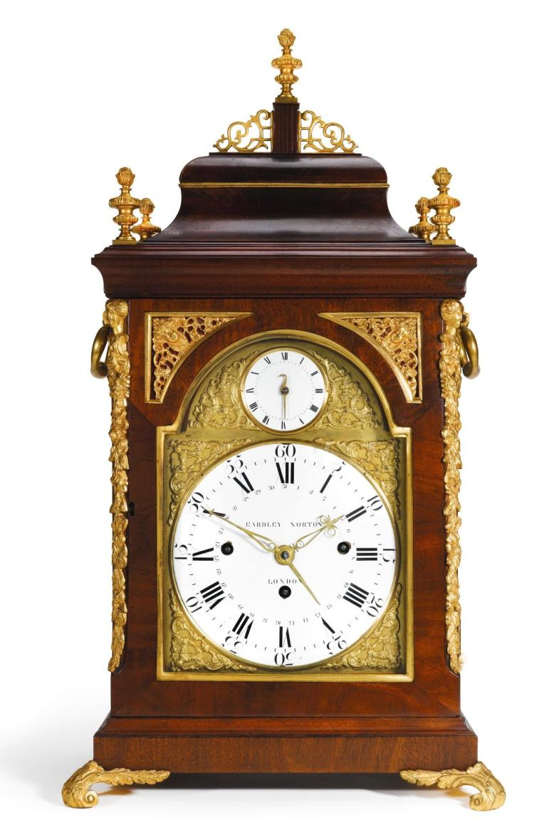 EARDLEY NORTON NO.1401. A GILT-MOUNTED MAHOGANY QUARTER CHIMING TABLE CLOCK WITH ALARM, LONDON, CIRCA 1785 |