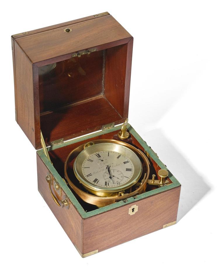 AN EIGHT-DAY MARINE CHRONOMETER, NO.1341,SAMUEL & CONWAY JOYCE, LONDON, CIRCA 1830 |
