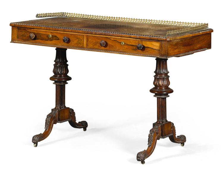 A GEORGE IVROSEWOOD WRITING DESK, CIRCA 1825, ATTRIBUTED TO GILLOWS  