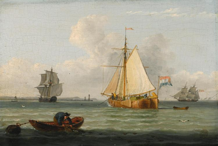 JOHN WARD OF HULL | A Dutch Buss on the Humber
