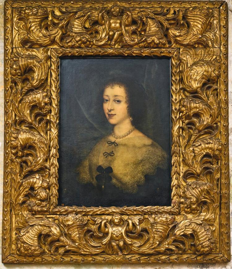 FOLLOWER OF JOHN HOSKINS THE ELDER | Portrait of Queen Henrietta Maria (1609 - 1669)
