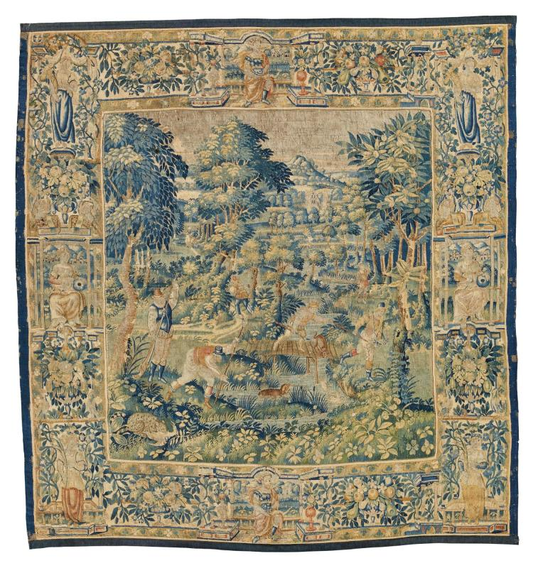 A FLEMISH GAME PARK TAPESTRY, PROBABLY OUDENAARDE LATE 16TH CENTURY |