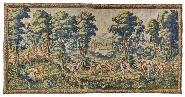 A FLEMISH HUNTING TAPESTRY, BRUSSELS, LATE 16TH CENTURY |