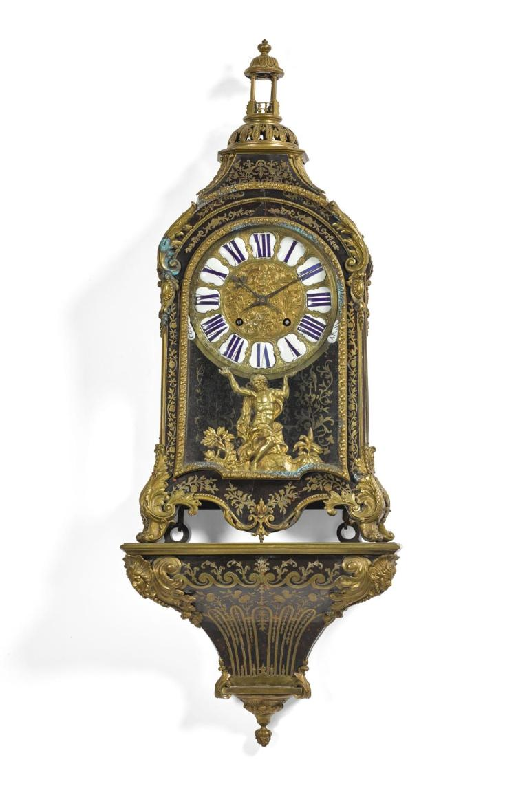 A LOUIS XV GILT-BRONZE MOUNTED TURTLESHELL BOULLE BRACKET CLOCK, JEAN-PHILIPPE GOSSELIN, PARIS, CIRCA 1730 |