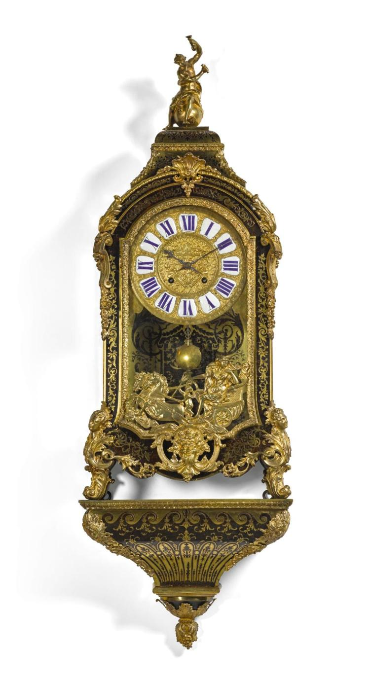 A RÉGENCE TURTLESHELL BOULLE BRACKET CLOCK, CLAUDE DU GRAND MESNIL, PARIS, CIRCA 1720 |
