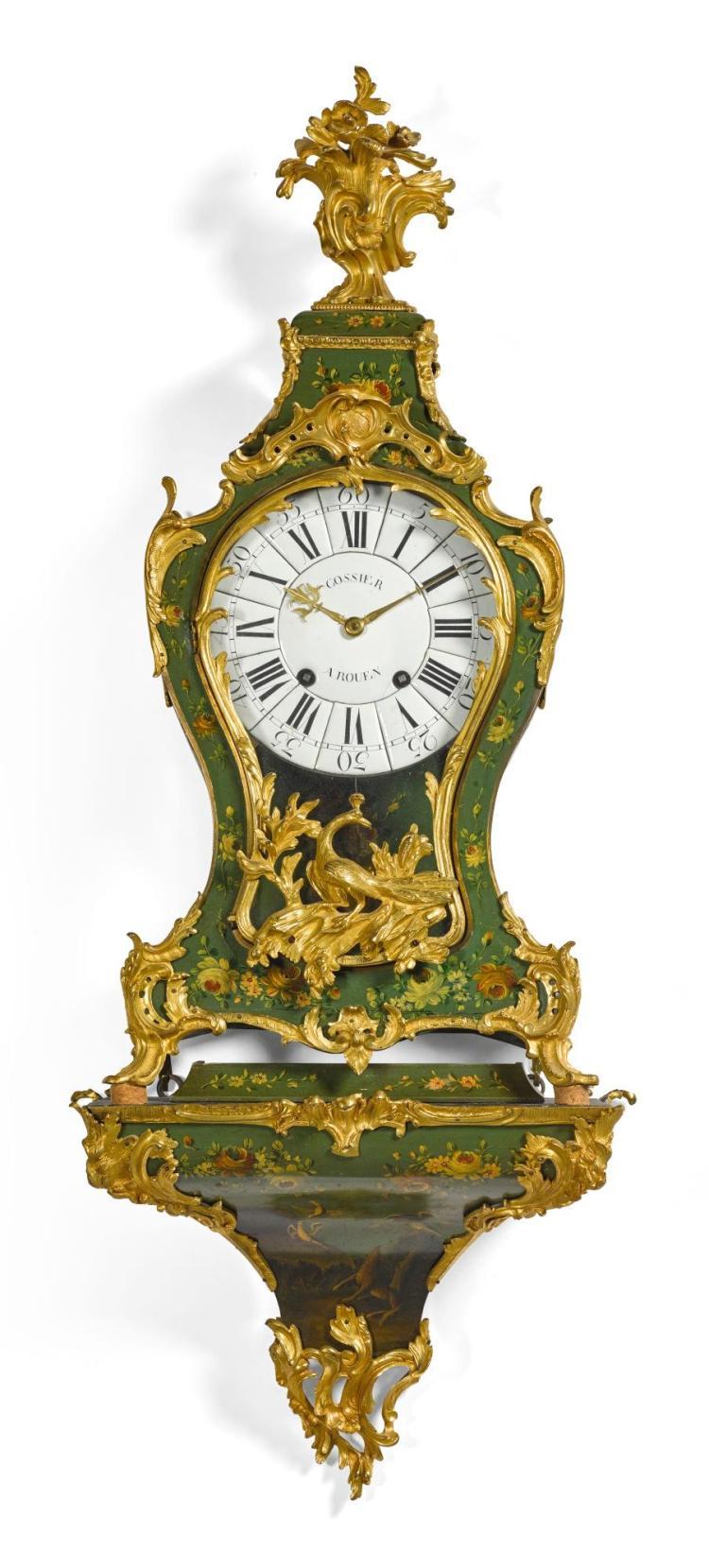 ALOUIS XVORMOLU MOUNTEDVERNIS MARTIN BRACKET CLOCK, JACQUES GOSSIER, ROUEN, CIRCA 1750 |