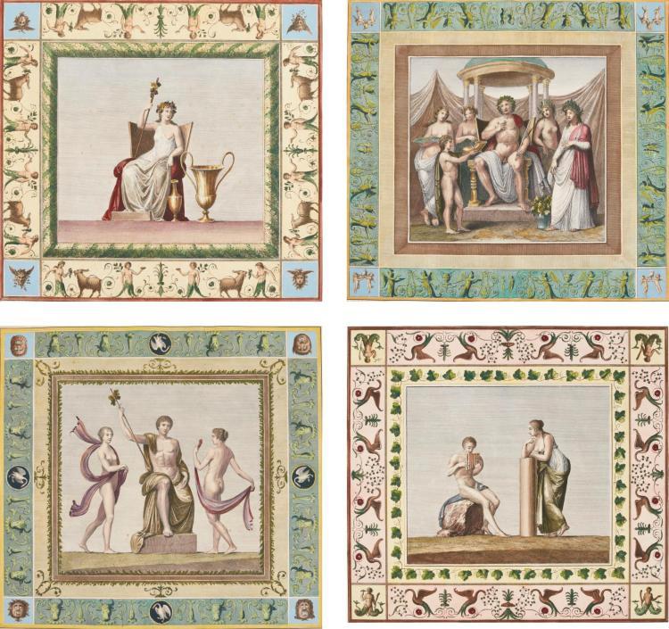 AFTER FRANCISZEK SMUGLIEWIECZ | Six plates, from Vestigia delle Terme di Tito e loro interne pitture