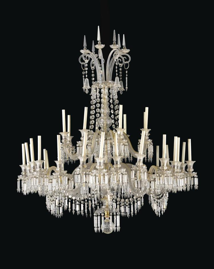A LATE VICTORIAN CUT-GLASS THIRTY-TWO LIGHT CHANDELIER, CIRCA 1880, ATTRIBUTED TO F. &C. OSLER, BIRMINGHAM |
