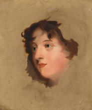 AFTER SIR THOMAS LAWRENCE | Head study of Lady Elizabeth Lowther (d. 1869)