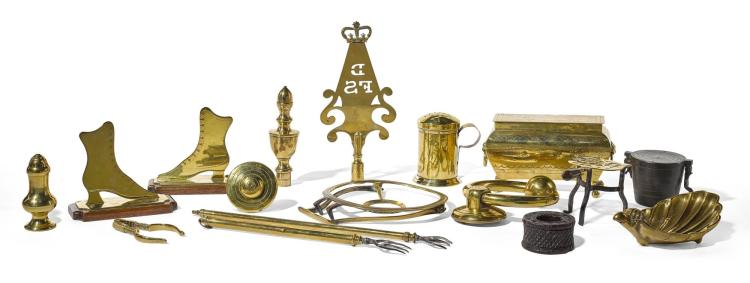 AN ASSORTED GROUP OF DOMESTIC IMPLEMENTS, 18TH/19TH CENTURY |