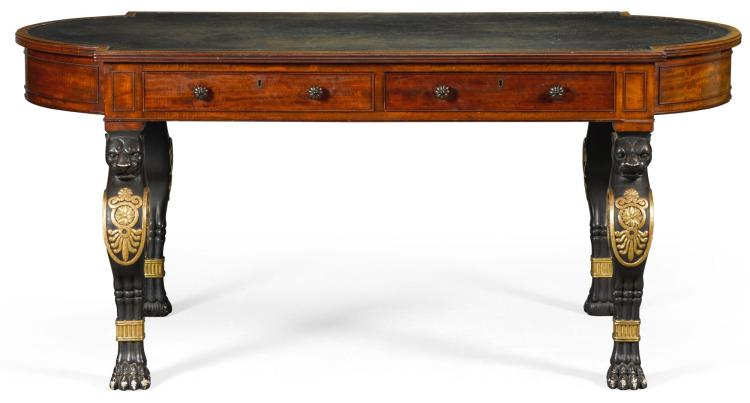 A REGENCY MAHOGANY WRITING TABLE, CIRCA 1810, IN THE MANNER OF GEORGE SMITH |