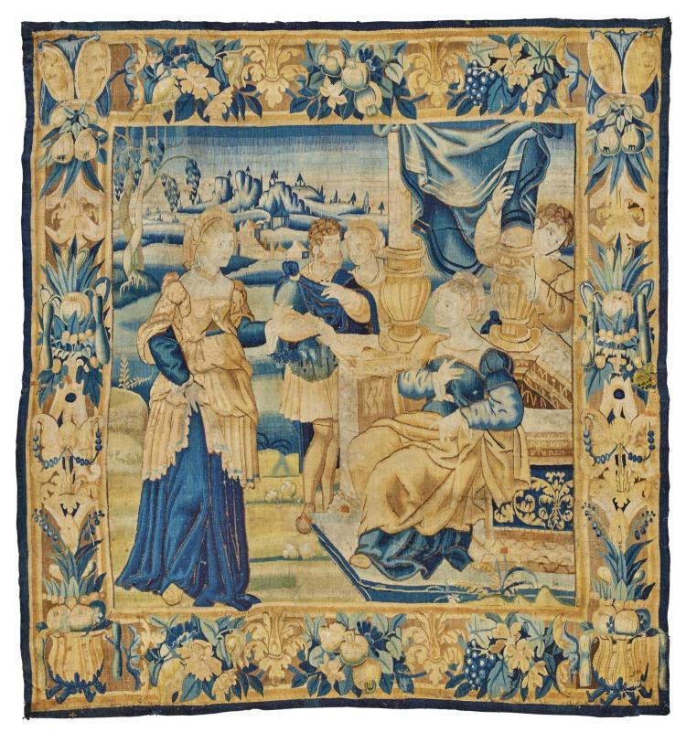 A FLEMISH OLD TESTAMENT BIBLICAL TAPESTRY, OUDENAARDE MID 16TH CENTURY |