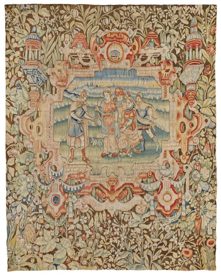 A RARE ENGLISH OLD TESTAMENT TAPESTRY PANEL, 16TH CENTURY, FROM 'THE STORY OF JUDAH', 16TH CENTURY, DATED 1595, WARWICKSHIRE OR LONDON,  |