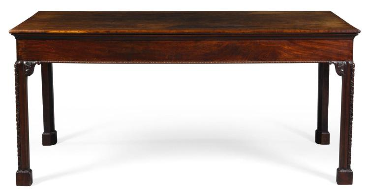 A GEORGE III MAHOGANY SERVING TABLE, CIRCA 1760, IN THE MANNER OF WRIGHT AND ELWICK |