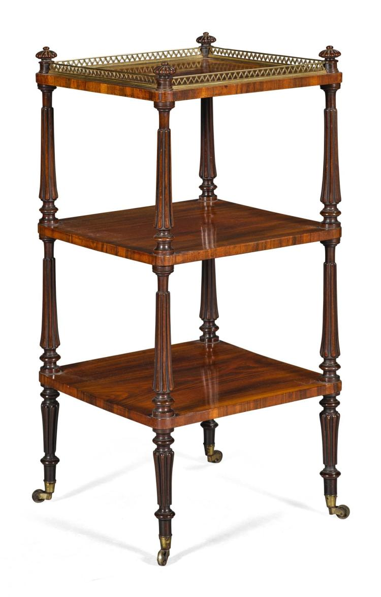 A REGENCY ROSEWOOD ÉTAGÈRE, CIRCA 1815, IN THE MANNER OF GILLOWS |