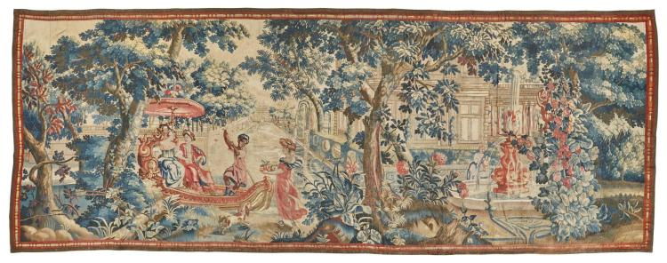 A FLEMISH MYTHOLOGICAL TAPESTRY, PROBABLY ANTWERP FOR THE ENGLISH EXPORT MARKET   SECOND QUARTER 18TH CENTURY   |