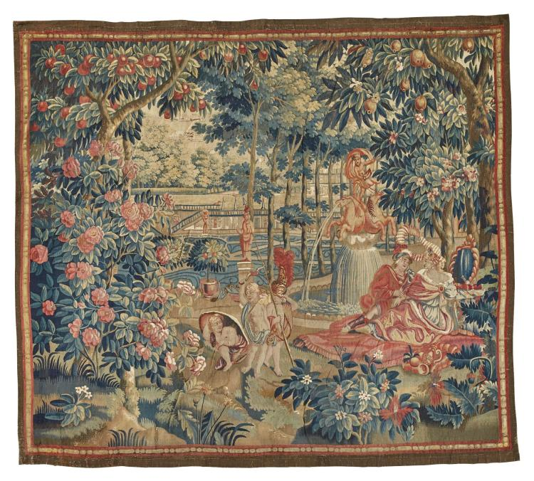 A FLEMISH MYTHOLOGICAL TAPESTRY, PROBABLY ANTWERP FOR THE ENGLISH EXPORT MARKET, EARLY 18TH CENTURY SECOND QUARTER 18TH CENTURY |