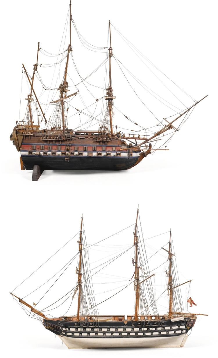 A FRIGATE MODEL OF HDMS VALKYRIEN 19TH CENTURY |