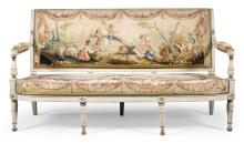 A DIRECTOIRE PAINTED AND PARCEL-GILT SOFA CIRCA 1800 |