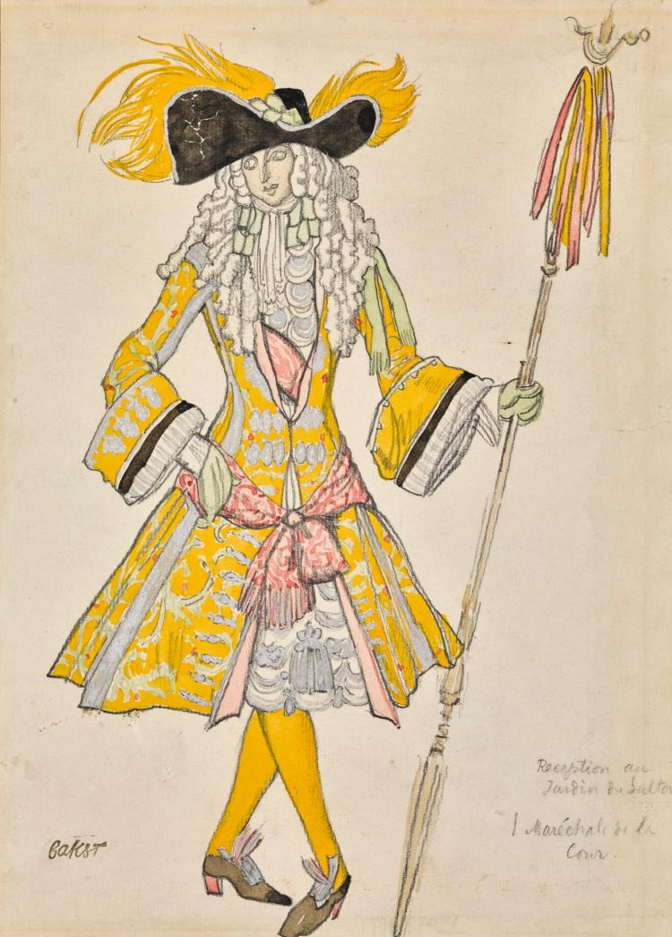 LÉON BAKST | Costume Design for a Maréchal de la Cour in The Sleeping Princess